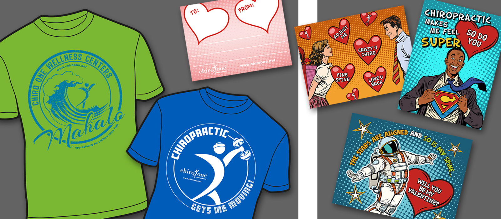 T-shirts and Valentine Cards
